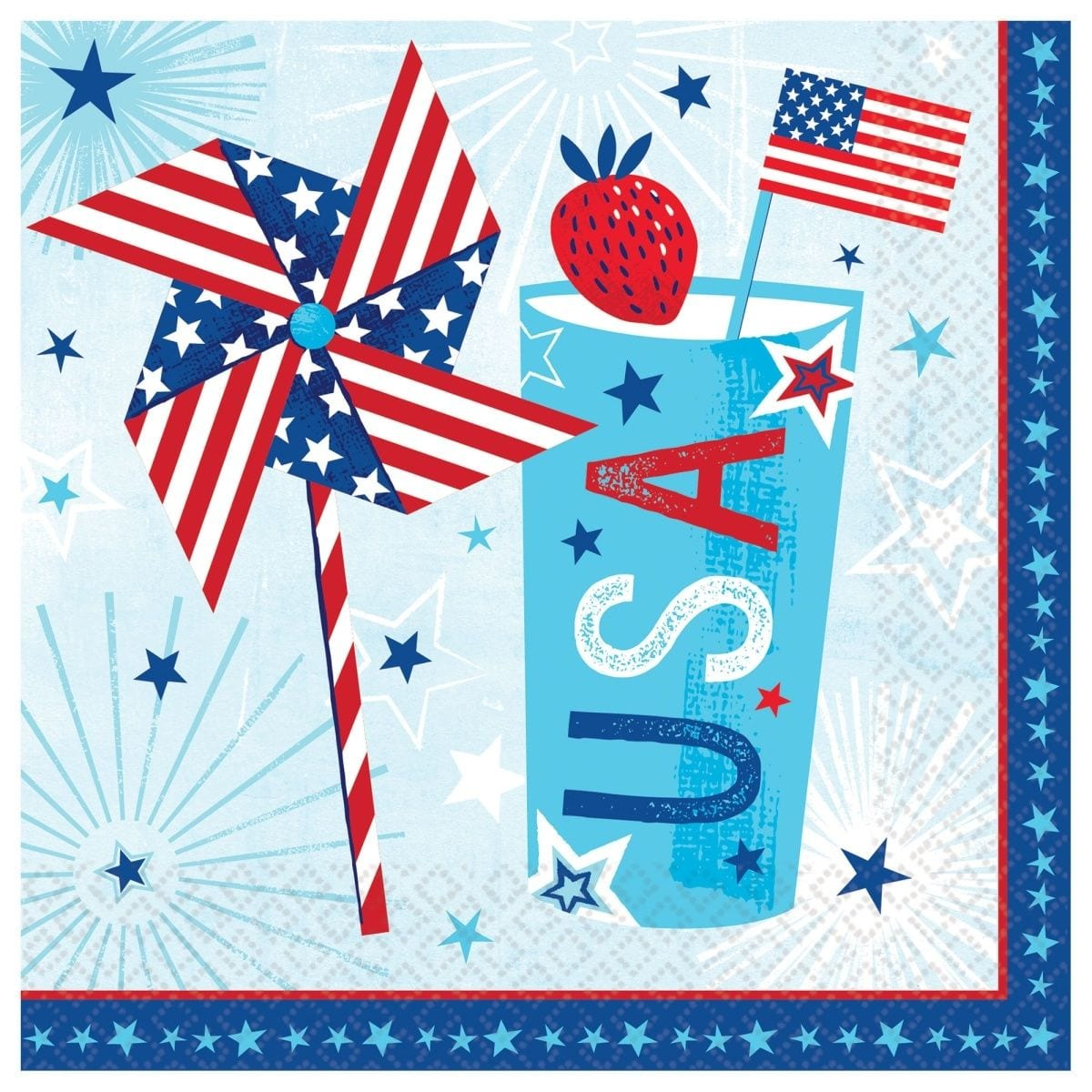 Celebrate Usa Patriotic Paper Luncheon Napkins The Party Place